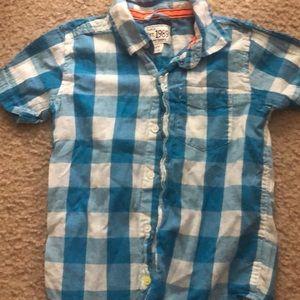 Short sleeved boy button down